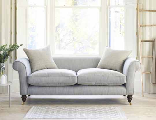 2 seater neutral sofa in living room
